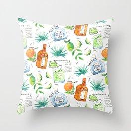Classic Margarita Cocktail Recipe Throw Pillow