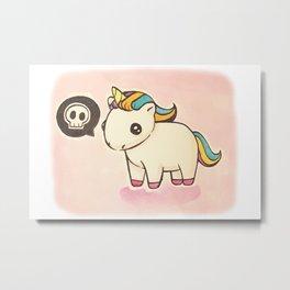 Dark Unicorn Metal Print