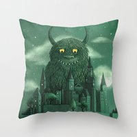 threadless Throw Pillows featuring Age of the Giants  by Terry Fan