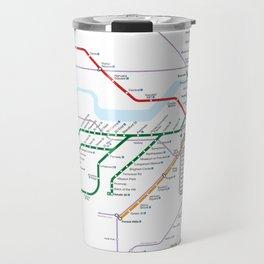 Boston Rapid Transit Map Travel Mug