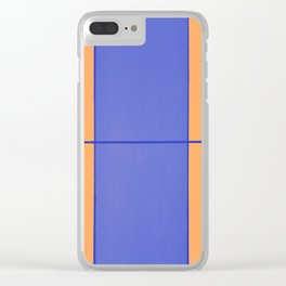 August - Orange and Blue Clear iPhone Case