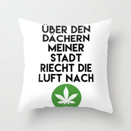 PALMEN AUS PLASTIK - Marihuana 187 Lyrics Throw Pillow