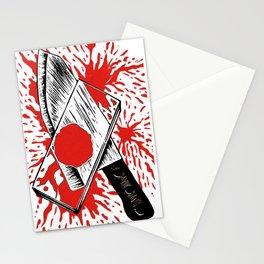 Dexter - Blood Slide and Knife Stationery Cards