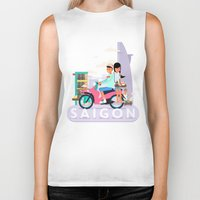 backpack Biker Tanks featuring SAIGON by Adam Moroncsik