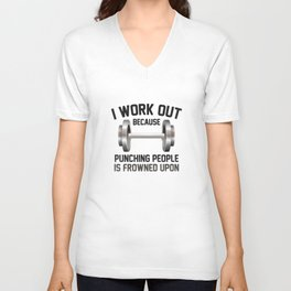 I Work Out Unisex V-Neck
