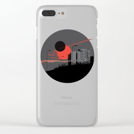 apocalypse city Clear iPhone Case
