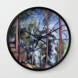 1897 - Paul Cezanne - Pines and Rocks Wall Clock