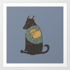 Black Dog in a Kitten Coat Art Print