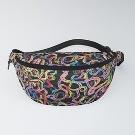 Rainbow Worms Confetti Fanny Pack