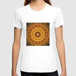 Bright Gold and Brown Mandala T-shirt