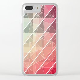 Abstract Geometric Design Clear iPhone Case