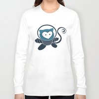 space cat Long Sleeve T-shirts featuring Space Cat by Compassion Collective