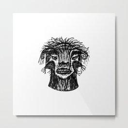 Fantasy Monster Head Drawing Metal Print