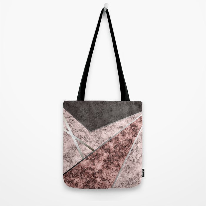 Marble . Combined abstract pattern . Tote Bag