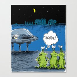 Aliens Get Locked Out Canvas Print