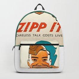 Anti-Rumour and Careless Talk Zipp It! Careless Talk Costs Lives Backpack