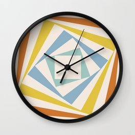 Spinning Squares Palette II Wall Clock