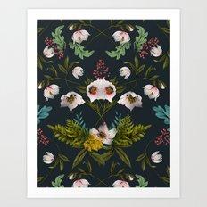 Helleborus Dark Art Print
