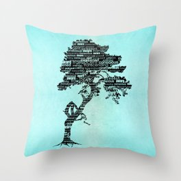 Bodhi Tree Throw Pillow