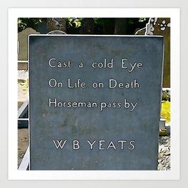 Cast a Cold Eye Art Print