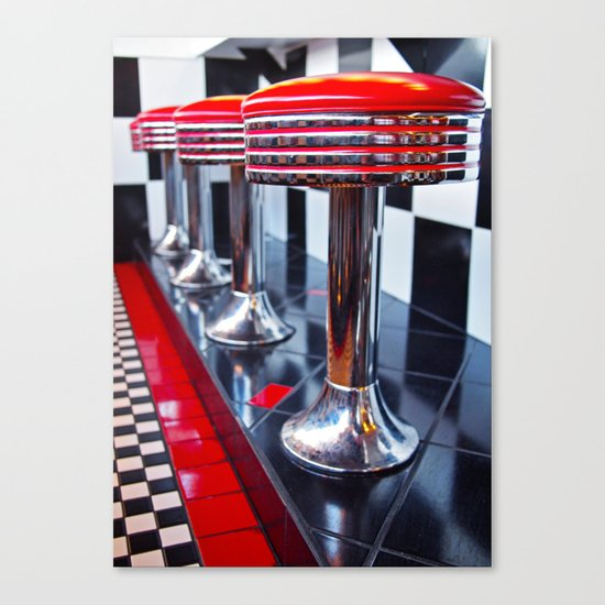 Diner red Canvas Print