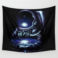 spaceman Wall Tapestries featuring The Keeper by nicebleed