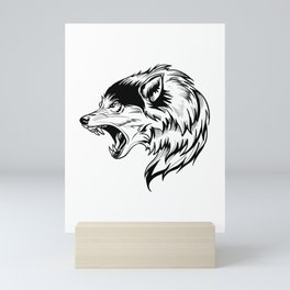 wild wolf tatto Mini Art Print