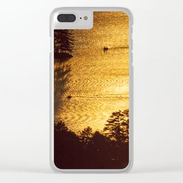 Golden Waters on Newfound Lake Clear iPhone Case