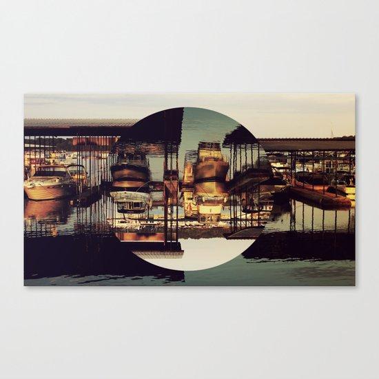 MARINA, INVERTED CIRCLE. Canvas Print