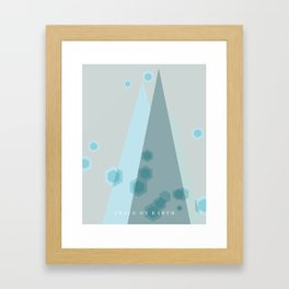 Modern  Trees Color Blue Framed Art Print