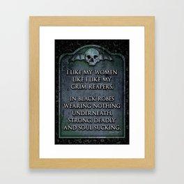 Grim Reaper Sexy Framed Art Print