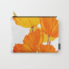 Orange and Yellow Poppies On A White Background #decor #society6 #buyart Carry-All Pouch