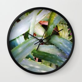 texture of tropical plants in green color. For clothes, furniture, art in general, other products Wall Clock