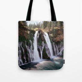 Burney Falls Panorama Tote Bag