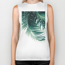 Palm Leaves Green Vibes #4 #tropical #decor #art #society6 Biker Tank