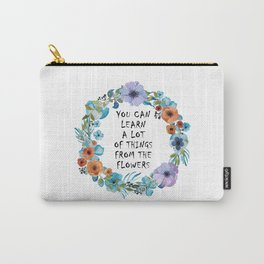 Alice in Wonderland Floral Quote Carry-All Pouch