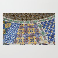 mexican Area & Throw Rugs featuring Mexican Tiles by Renee Trudell