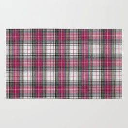 brooklyn red & white - holiday and everyday classic red white plaid check tartan Rug