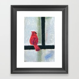 Its cold outside! Framed Art Print