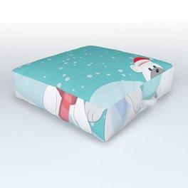 Polar bears Outdoor Floor Cushion