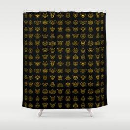 072 70s Robot NEG Shower Curtain