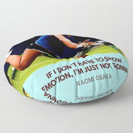 Naomi Osaka Quote On Showing Emotion Floor Pillow