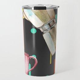 Coffee Pop Art Collage Good Morning Travel Mug