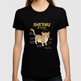 Funny Anatomy Of A Cat Kitten Feline T-shirt T-shirt