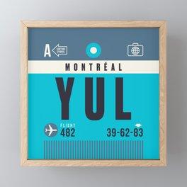 Baggage Tag A - YUL Montreal Canada Framed Mini Art Print