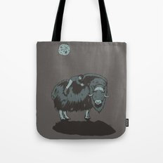 Muskox by moonlight Tote Bag
