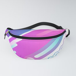80's Graphic Fluid Design Fanny Pack