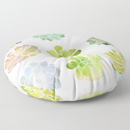 Spring Succulents Floor Pillow