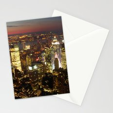 New York Empire State Night Stationery Cards