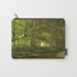 Fantasy Forest Painting Green Wood Carry-All Pouch